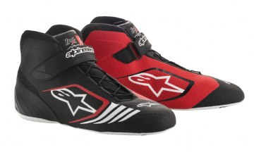 TECH 1 KX KART BOOTS BLK-RED-WHITE
